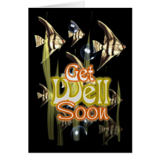 Get well soon Angelfish Card