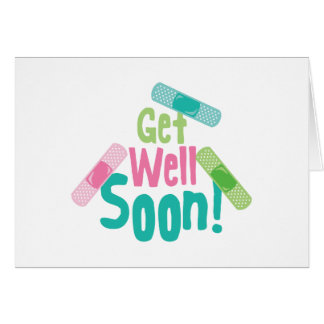 Get Well Soon Band-Aid Card