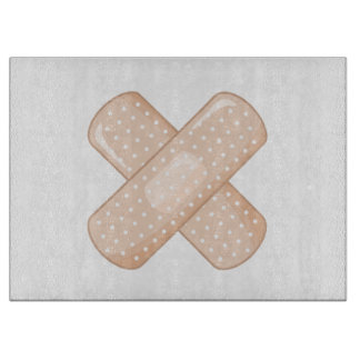 Get Well Soon Bandaid (Nurse Care Crossed Plaster) Cutting Board