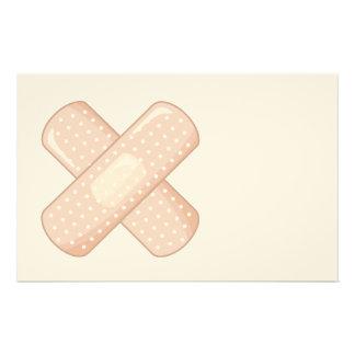 Get Well Soon Bandaid (Nurse Care Crossed Plaster) Stationery