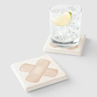 Get Well Soon Bandaid (Nurse Care Crossed Plaster) Stone Coaster