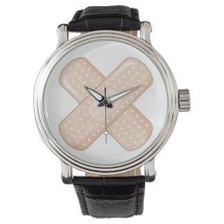 Get Well Soon Bandaid (Nurse Care Crossed Plaster) Wrist Watches