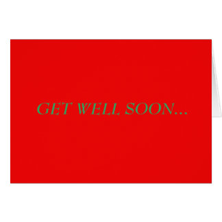Get Well Soon Because Your Sneezing Sick Card