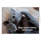 Get Well Soon Cute Cat Card