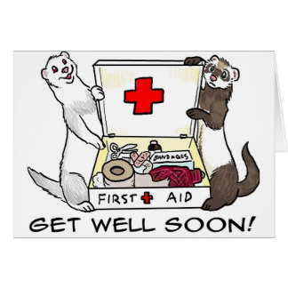 Get Well Soon ferret card