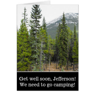 """""""Get well soon"""" + Forest and Mountain Scene Card"""