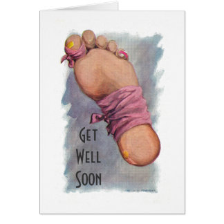 Get Well Soon from Surgery - Injury Card