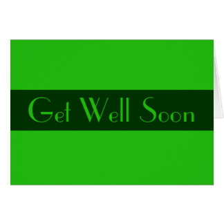 Get Well Soon Green color Card