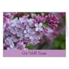 Get Well Soon Greeting Card with Lilac Design