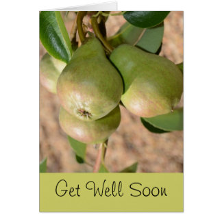 Get Well Soon Greeting Card with Pear Design