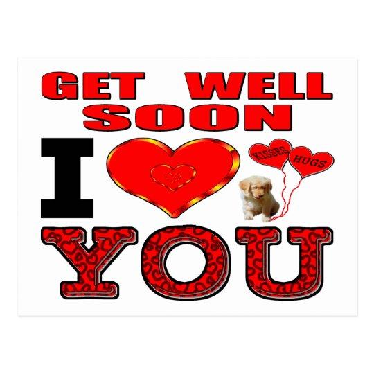 Get Well Soon I Love You Postcard Zazzle Ca