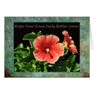 Get Well Soon Knee Surgery Floral Card