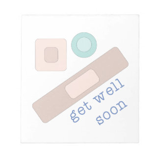 Get Well Soon Notepad