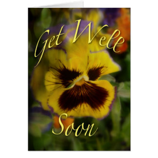 Get Well Soon Pansy Greeting Card