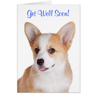 Get Well Soon Pembroke Welsh Corgi Greeting Card
