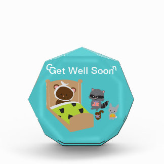 Get Well Soon Sick Bear and Animal Friends