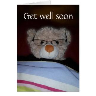 Get well soon Teddy Greeting Card