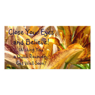 Get Well Soon! Wishing You a Quick Recovery! cards Photo Greeting Card