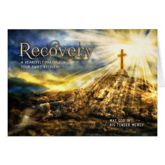 Get Well Spiritual Golden Cross Card
