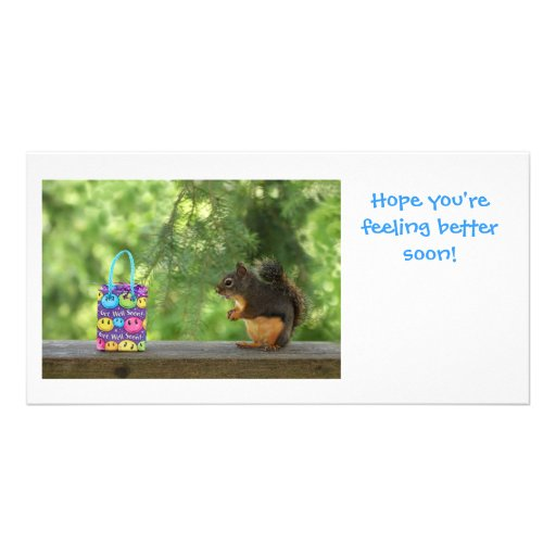 Get Well Squirrel Photo Cards