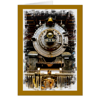 Get Well Vintage Train Card