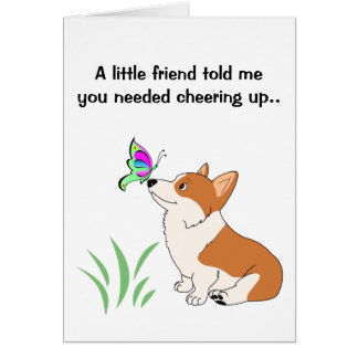 Get Well Welsh Corgi Greeting Card