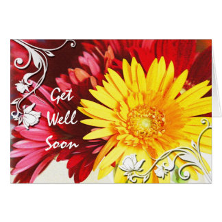 Get Well Wishes Floral Card