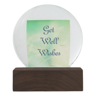 Get Well Wishes Snow Globe