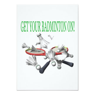 Get Your Badminton On Card