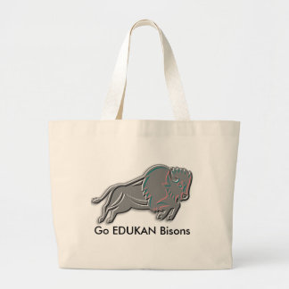 Get your EDDIE the BISON jumbo tote from EDUKAN