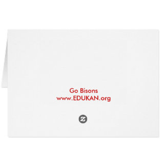 Get your EDDIE the BISON standard card / envelope