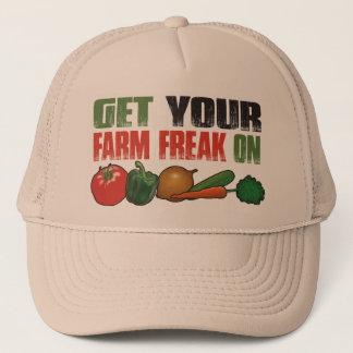 Get Your Farm Freak On Funny Gardening Trucker Hat