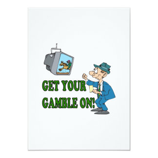 """Get Your Gamble On 2 5"""" X 7"""" Invitation Card"""