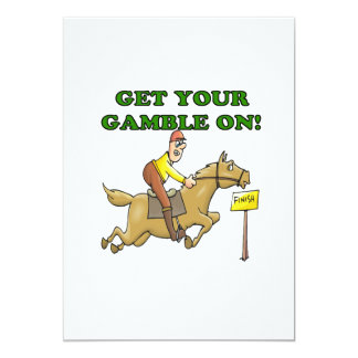 "Get Your Gamble On 5"" X 7"" Invitation Card"