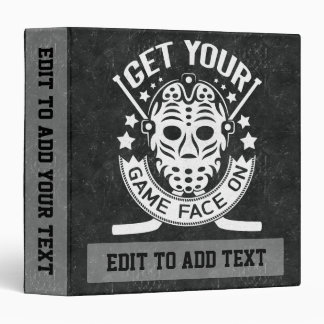 Get Your Game Face On Hockey Binder
