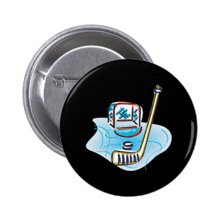 Get Your Hockey On 2 Inch Round Button