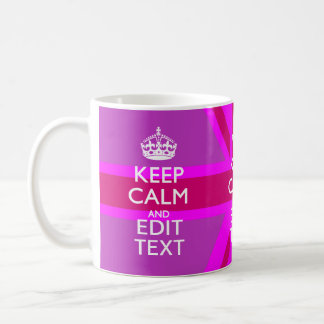 Get Your Keep Calm Text on Fuchsia Union Jack Classic White Coffee Mug