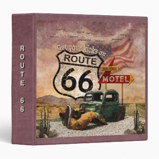 Get your Kicks on Route 66 3 Ring Binders