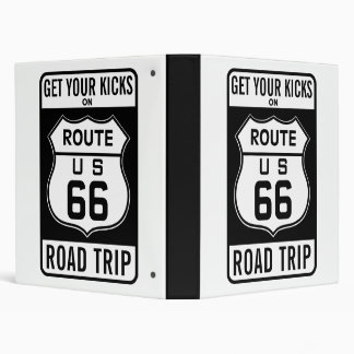 Get Your Kicks On Route 66 Vinyl Binders