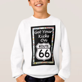 Get Your Kicks On Route 66 With Map Sweatshirt
