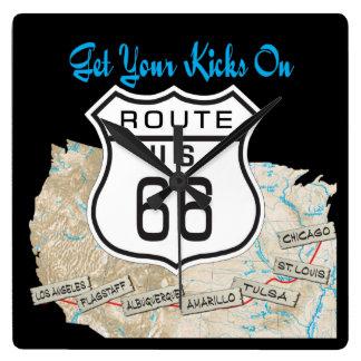 Get your kicks on rt 66 clock