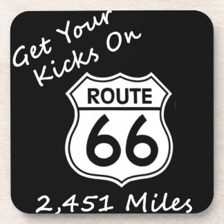 get_your_kicks on US Route 66 Beverage Coaster