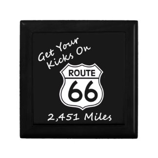 get_your_kicks on US Route 66 Trinket Box