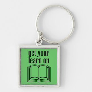 Get Your Learn On School Book Key Chain