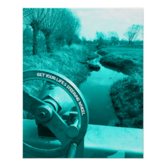 get your life's steering wheel advice of life poster
