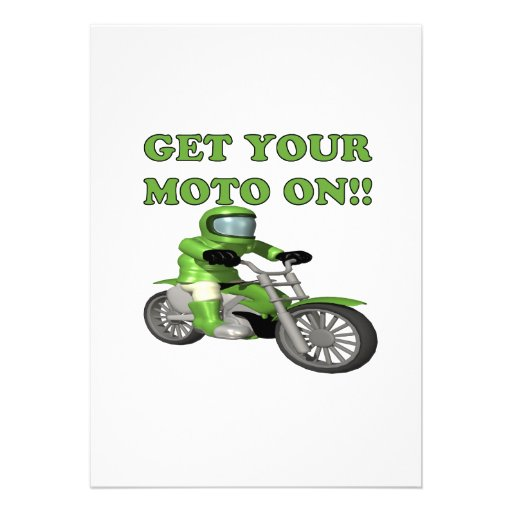 Get Your Moto On Personalized Invitations