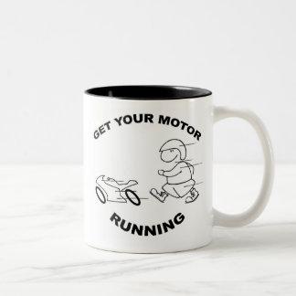GET YOUR MOTOR RUNNING Two-Tone COFFEE MUG