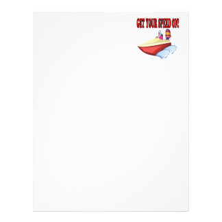 Get Your Speed On Letterhead Design