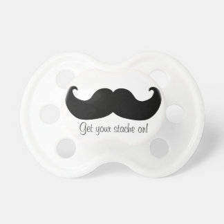 Get your stache on pacifier