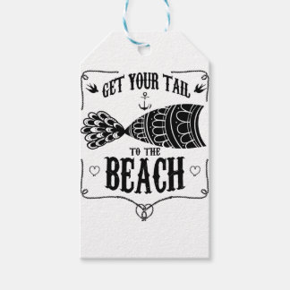 Get your tail to the beach gift tags